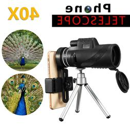 High Power Monocular Telescope W/ Tripod Waterproof 40x60 HD