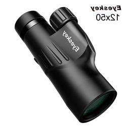 Eyeskey High Power Waterproof 12x50 Monocular Bright and Cle