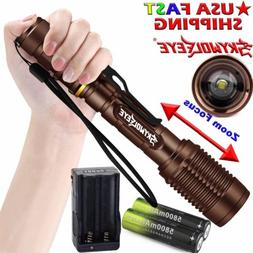 High Power Zoom 50000Lumens 5 Modes T6 LED Light Flashlight