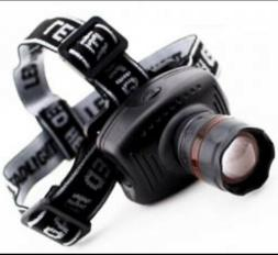 High Power Zoom LED Headlamp Head Light Flashlight Working L