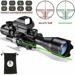 Rifle Scope Combo C4-16x50EG with Laser and 4 Holographic Re