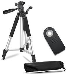 """57"""" Inch Lightweight Aluminum Camera Tripod + Remote Shutter"""