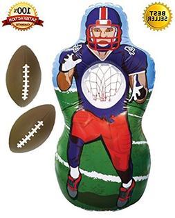 Premium Inflatable Football Target Set - Inflates to 5 Feet