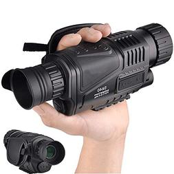 5x40mm Infrared Digital Night Vision-HD Monocular with 1.5 I