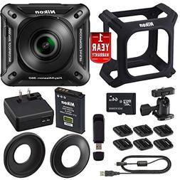 Nikon KeyMission 360 4K Action Camera Bundle International M