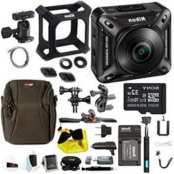 Nikon Keymission 360 Wi-Fi 4K Action Camera with 32GB card &