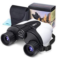 Kids Binoculars, Cobiz 10x25 Outdoor Binoculars for Kids, Fo