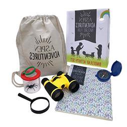 Kids Explorer Kit — Kids Binoculars, Magnifying Glass, Com