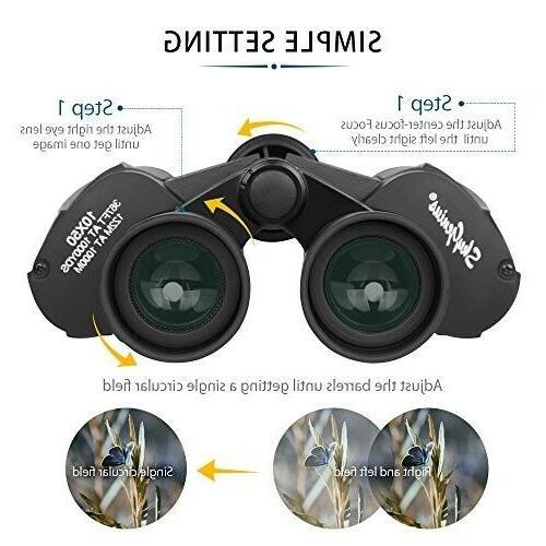 SkyGenius 10 Powerful Binoculars Adults, Durable Clear