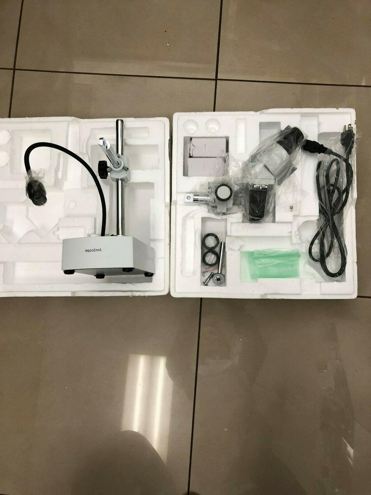 10x 20x led binocular stereo microscope boom