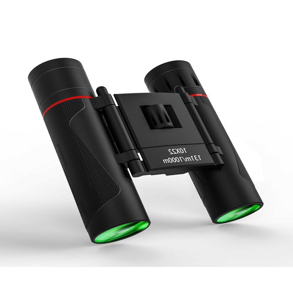 10x22 Compact Binoculars Mini Folding Small Binocular HD BAK