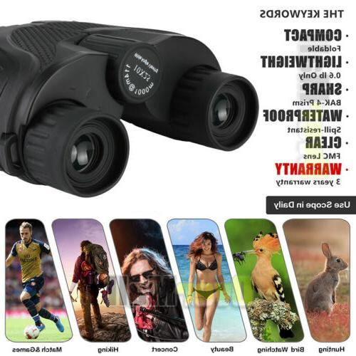 Day/Night Military Powerful Binoculars Camping+Case