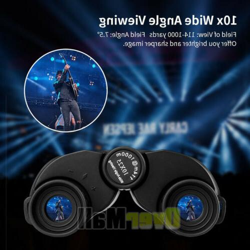 Day/Night 10x25 Military Powerful Binoculars Optics Hunting Camping+Case
