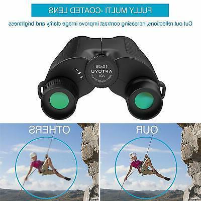 10x25 Eyepiece High Binocular with Low
