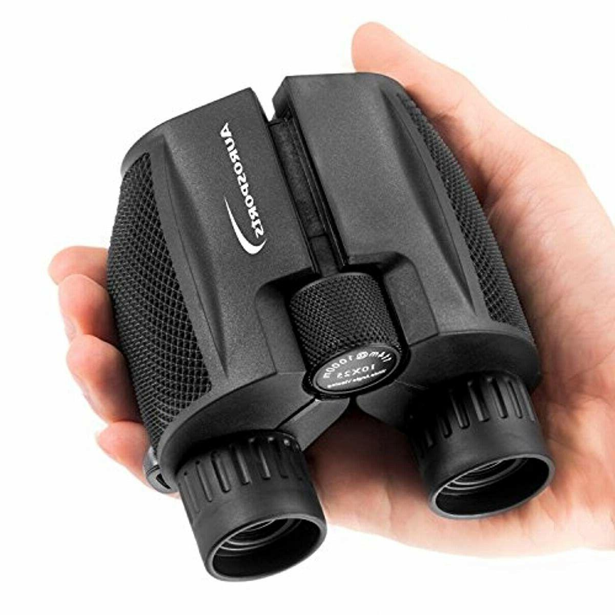 10x25 folding binoculars weak light night vision