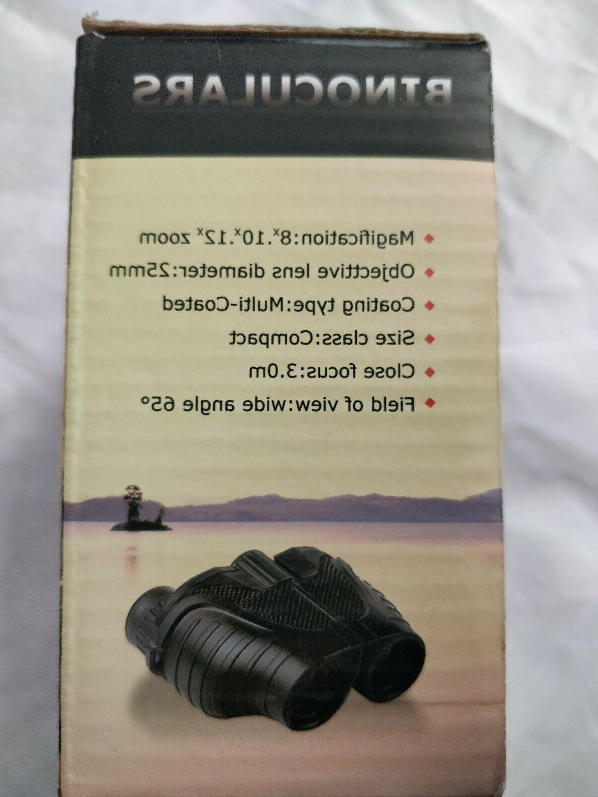 10x25 Folding Binoculars Perfect for Sports Games and Concerts New