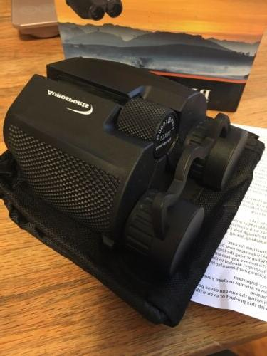 10x25 folding high powered binoculars