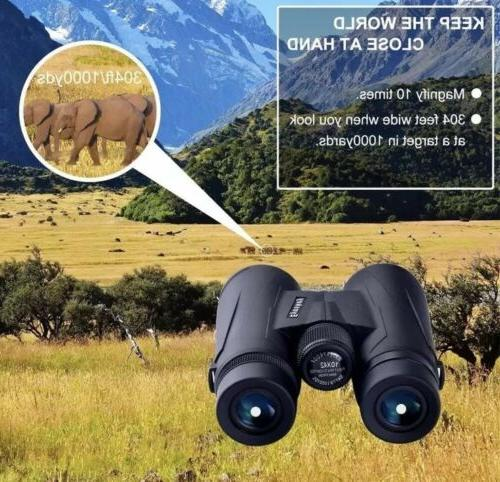 Eyeskey 10x42 Binoculars, Travelling,