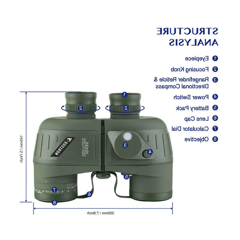 10X50 Binoculars Waterproof Glimmer Night Vision BAK4