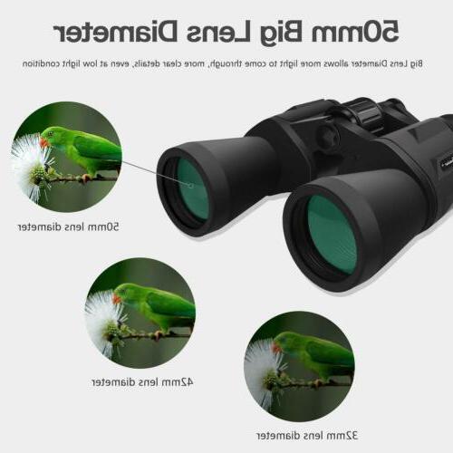 10x50 Full-size Binoculars Outdoor Camping Telescope Bird