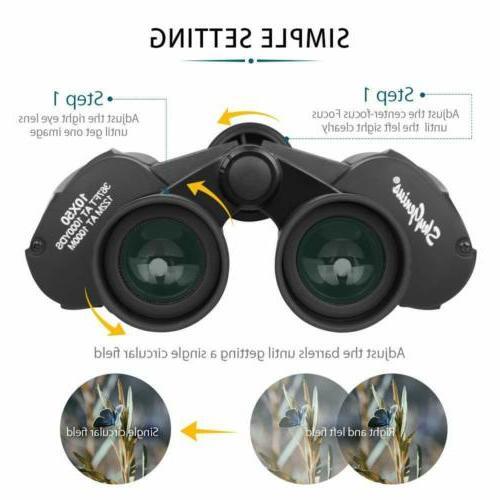10x50 Full-size Binoculars Watching Strap
