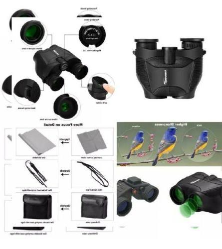 Aurosports 12x25 Binoculars with New Classical Black Case!