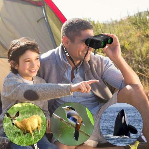 Aurosports 12x25 HD Compact Binoculars with Foldable...