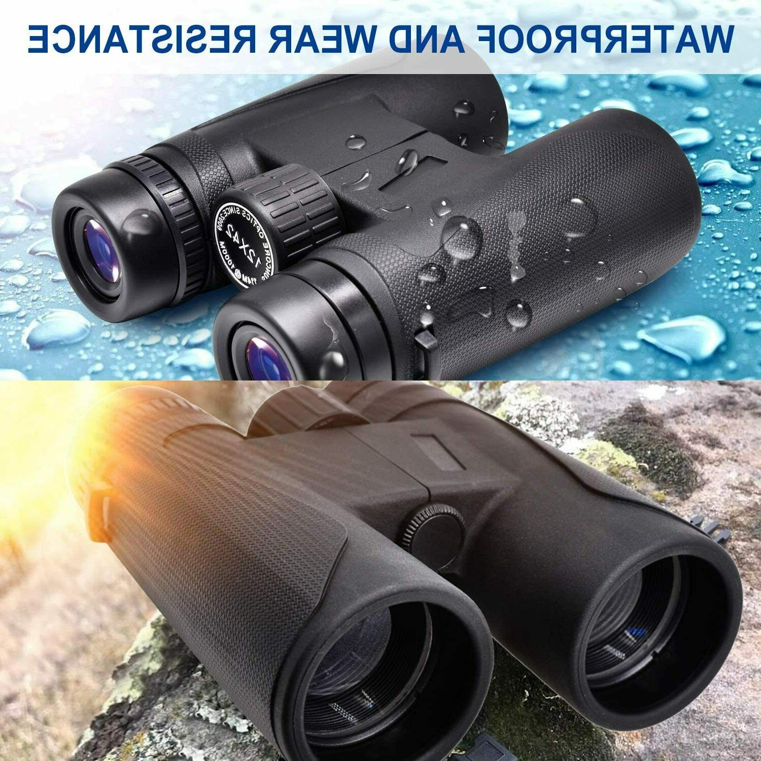 Visanol 12x42 with Low Light Night Vision Waterproof