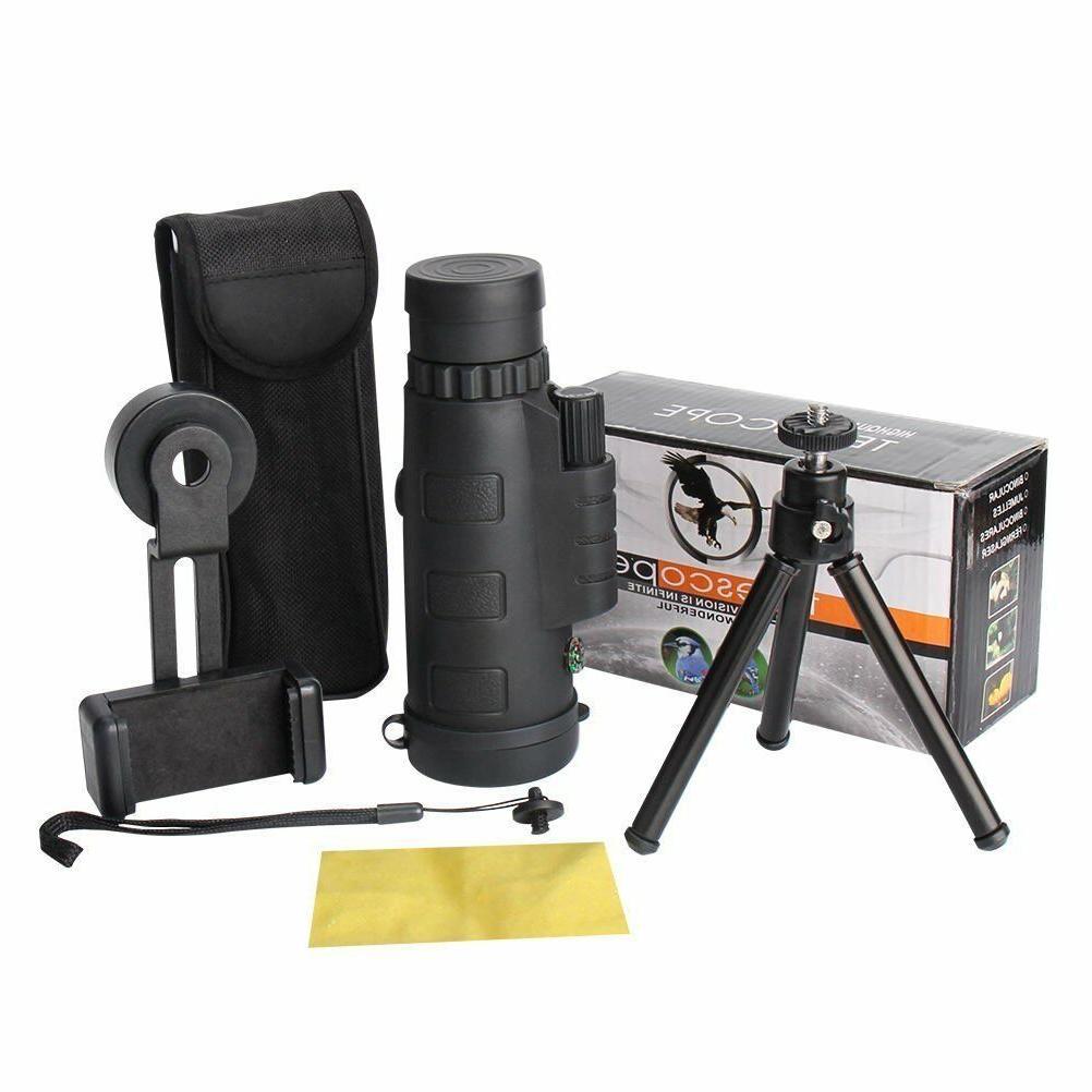 12x50 Power Binocular Spotting Scope Telescope Dual