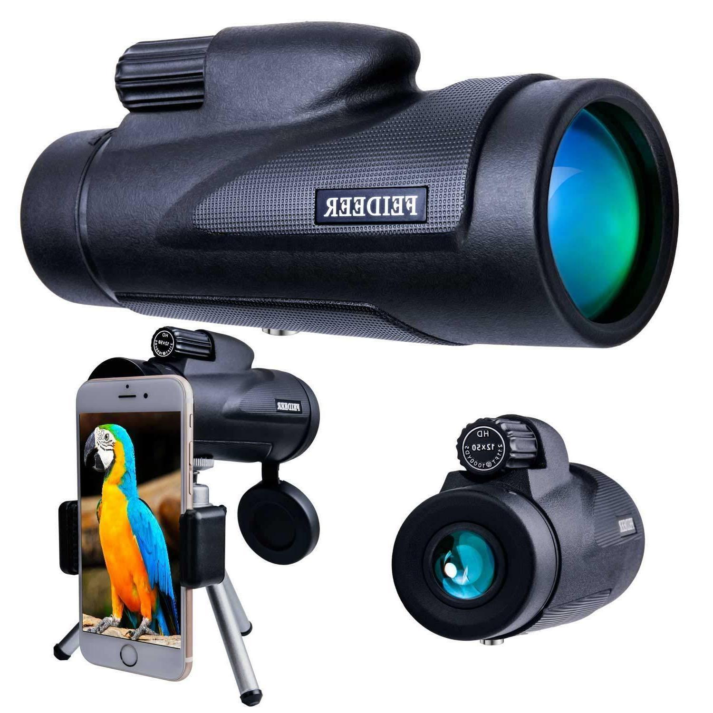 12x50 High Monocular Binocular Spotting Night