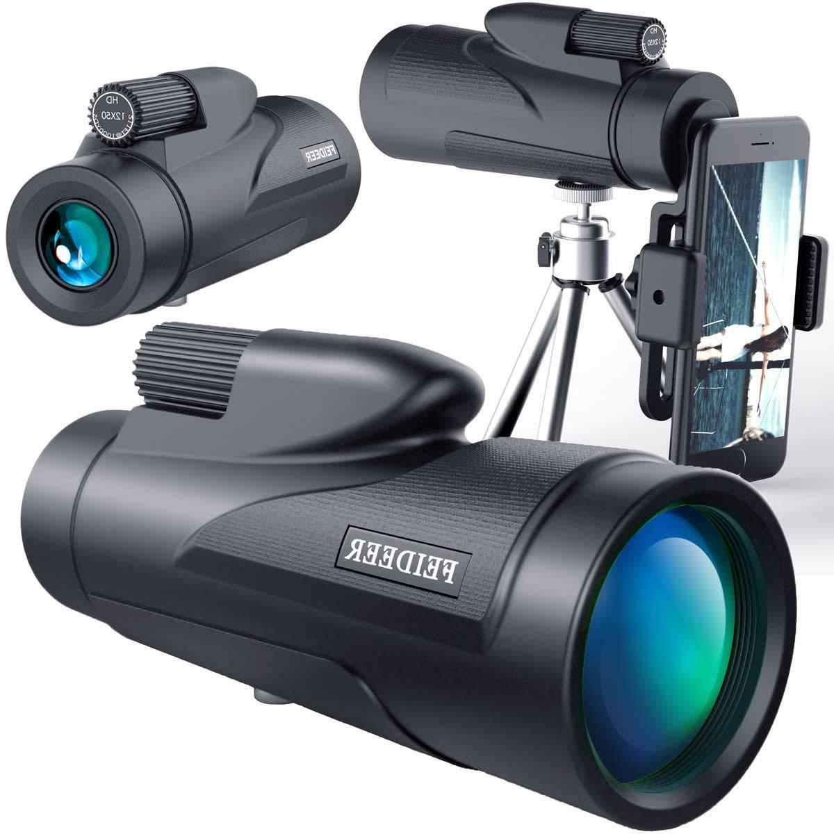 12x50 high power monocular binocular telescope spotting