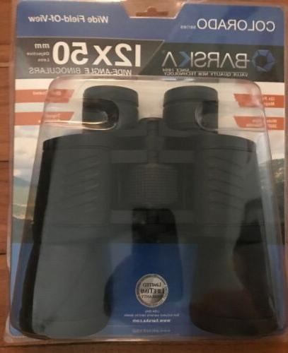 12x50mm colorado wide angle binoculars cp12753 new