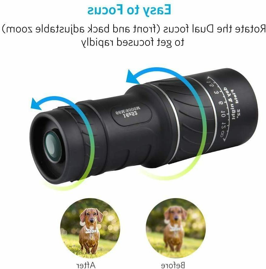 16x52 Binocular with Night BAK4 Waterproof