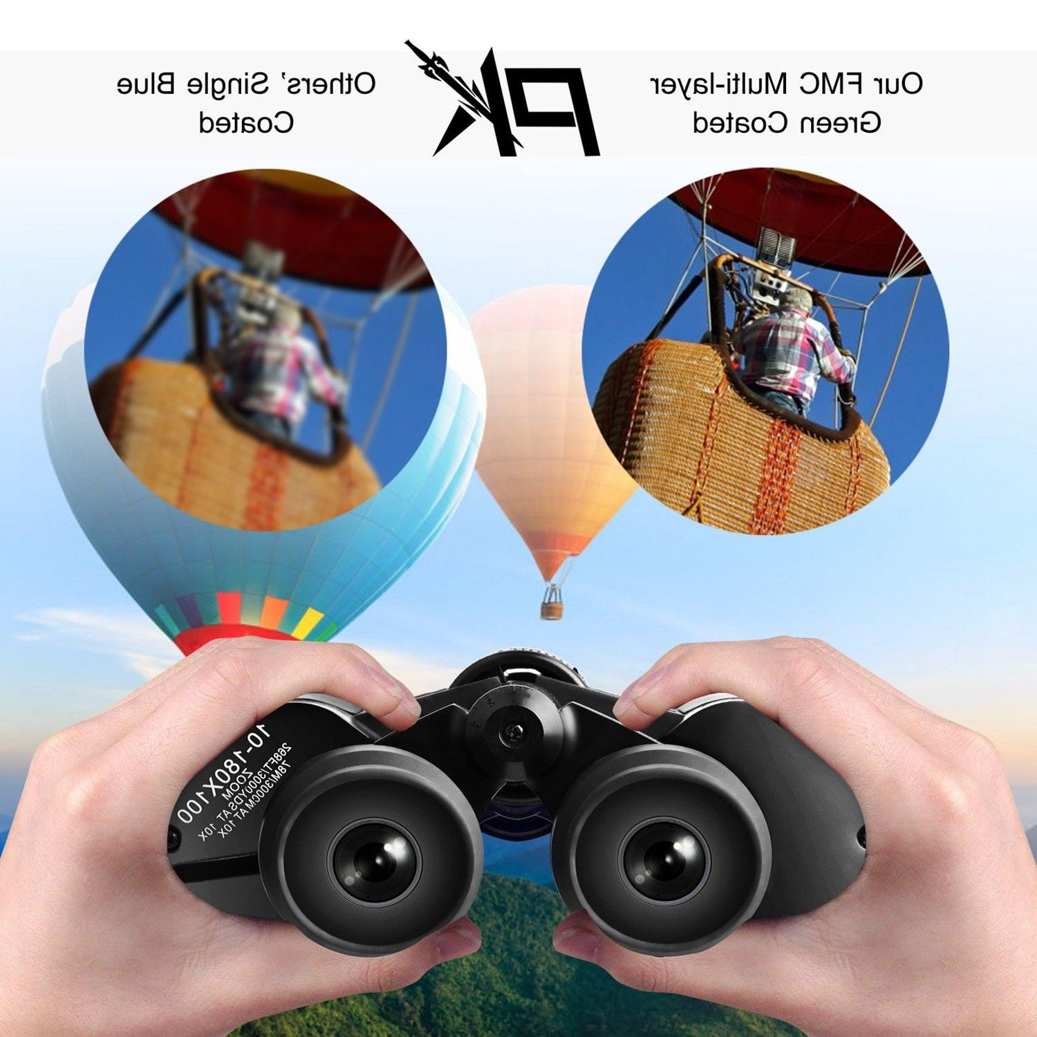 180 x 100 Day Outdoor Travel Binoculars Hunting