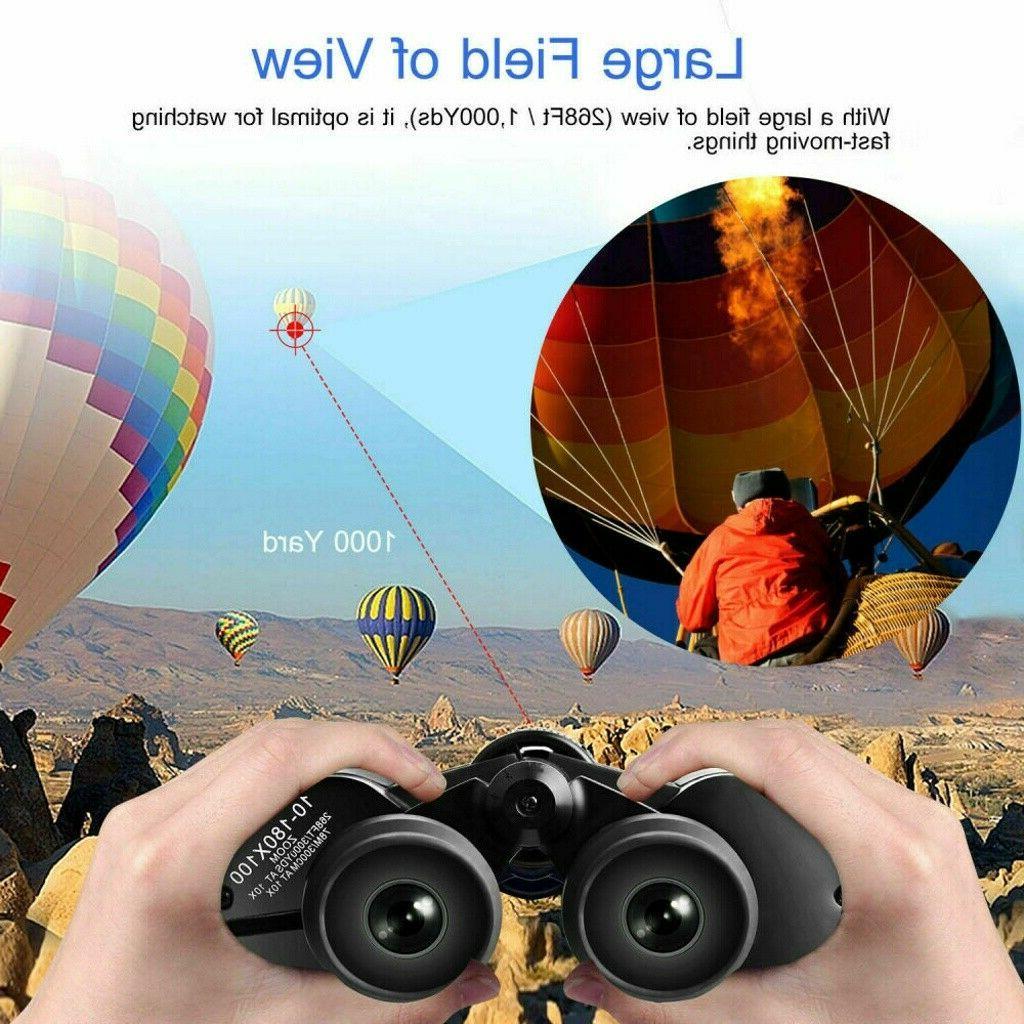 180x100 Outdoor Binoculars Telescope + Case