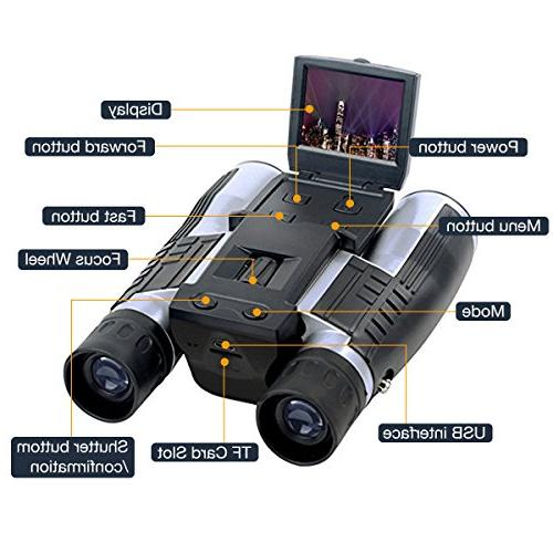 SGODDE 2'' Camera 5MP Video Recorder Camcorder Telescope for Spying