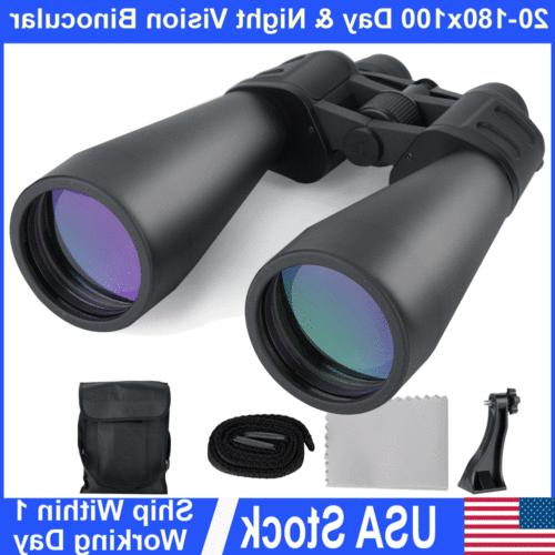 20x-180x100 Super Zoom HD Outdoor Binoculars Nightvision Tel