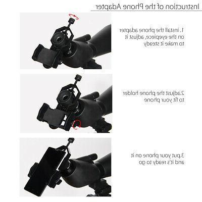 25-75X75 Waterproof Spotting Zoom Binoculars Monocular w/ Tripod&