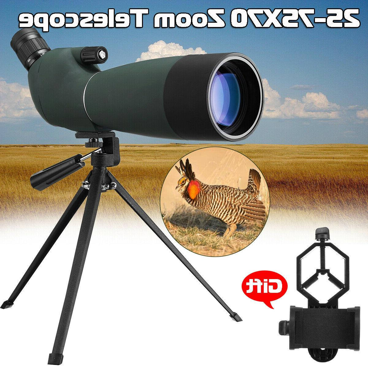 25 75x75 waterproof spotting scope zoom binoculars