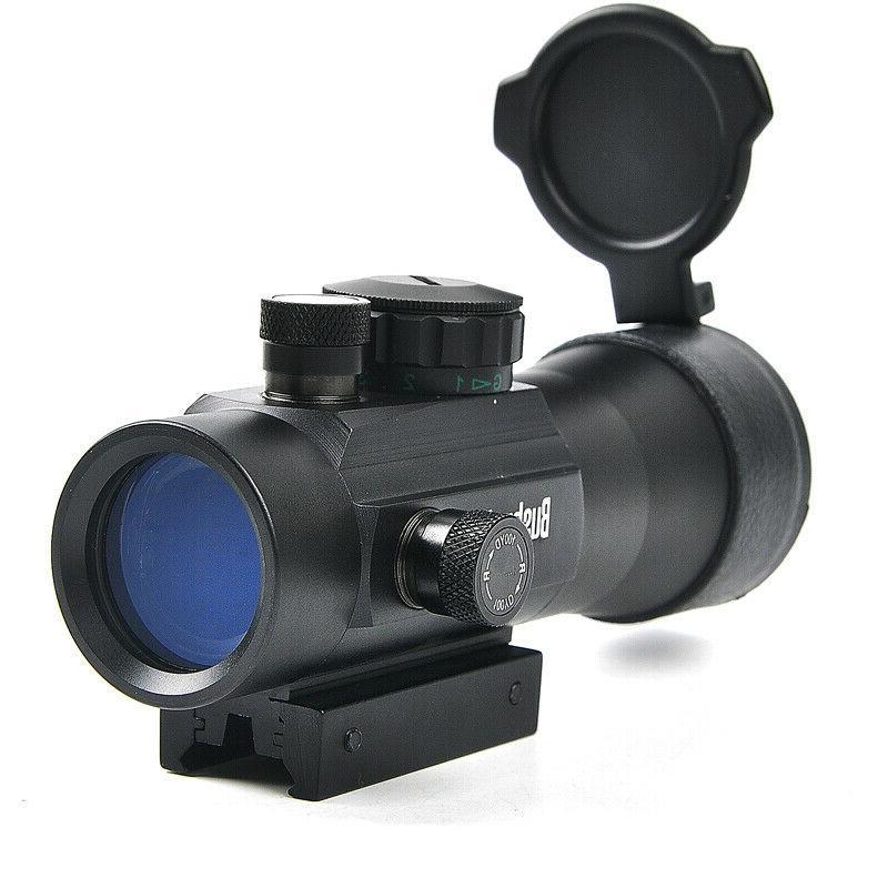 2x40 Green Red Dot Sight Optics Riflescope Fit Picatinny Rai