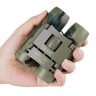30x60 portable small compact binoculars outdoor hunting