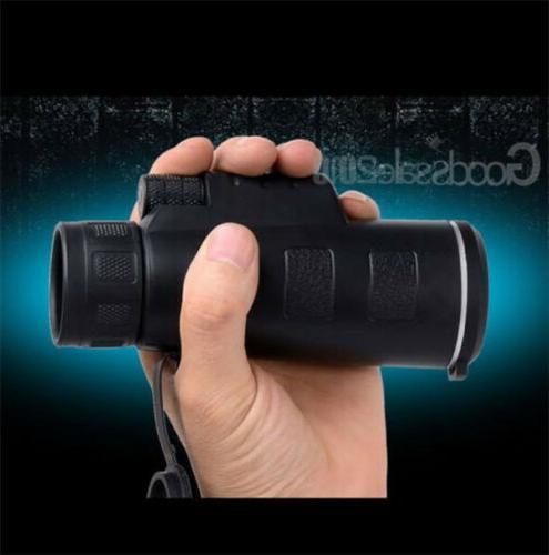 40x Focus Portable camping Monocular Telescope