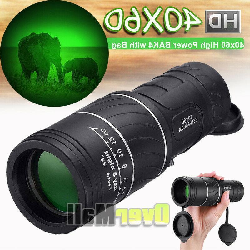 40x60 high power bak4 hd monocular telescope