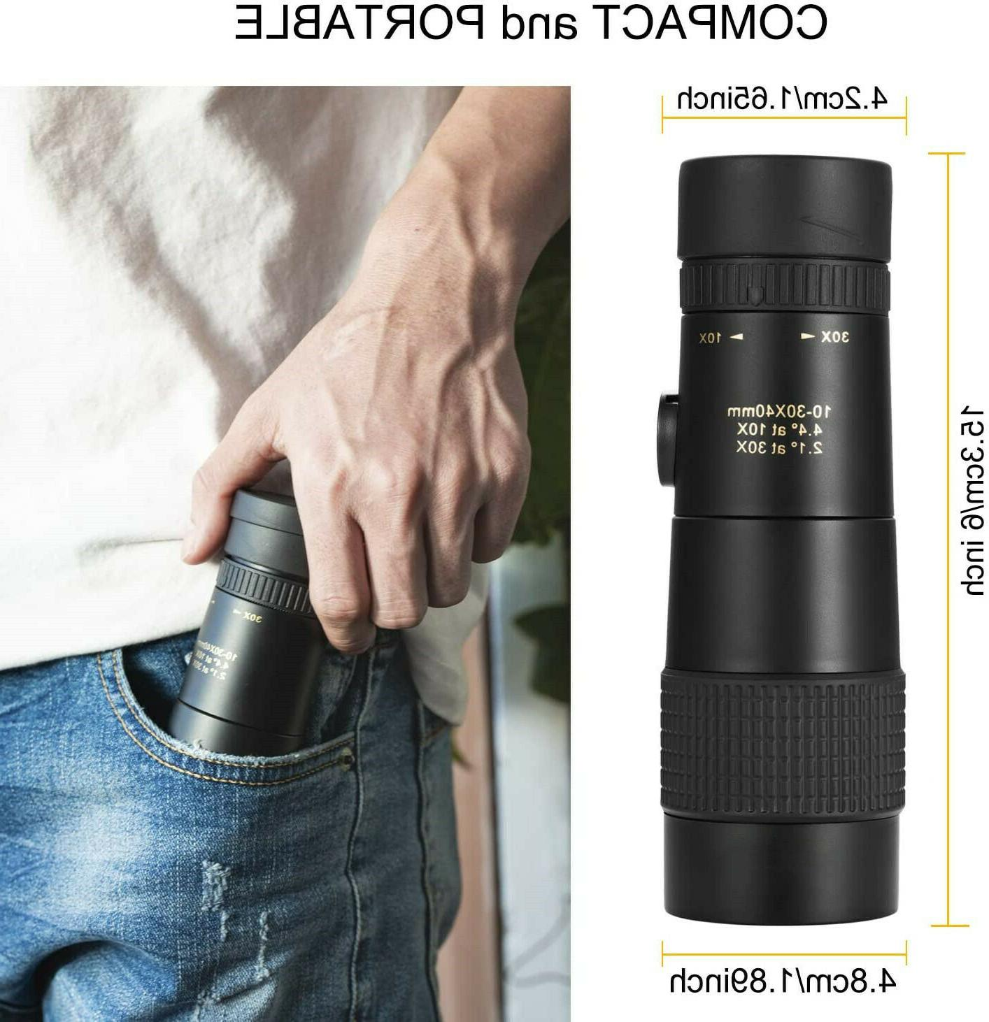 4K Zoom Monocular Telescope Binocular Night