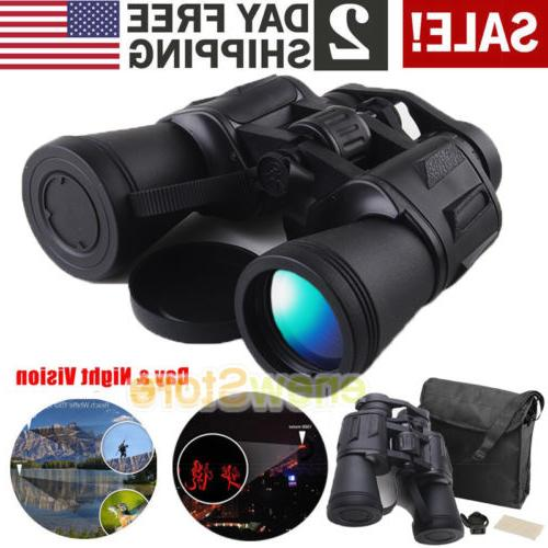 60x50 Zoom Day Night Vision Outdoor Travel HD Binoculars Hun
