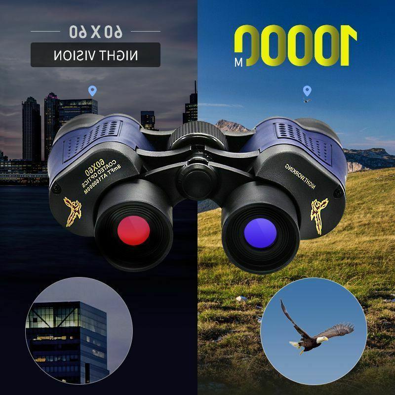 60x60 high power binoculars 10k meters hunting