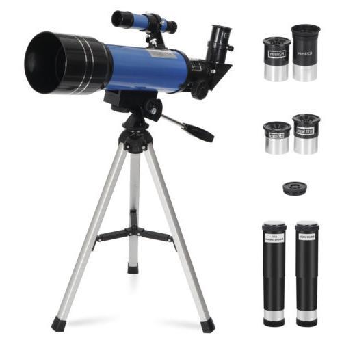70mm Refractor Telescope Kids & Astronomy Beginners W/ Tripo