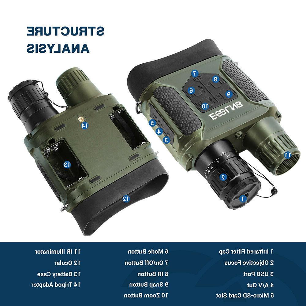 7X31 Binocular IR Scope with TFT LCD Card