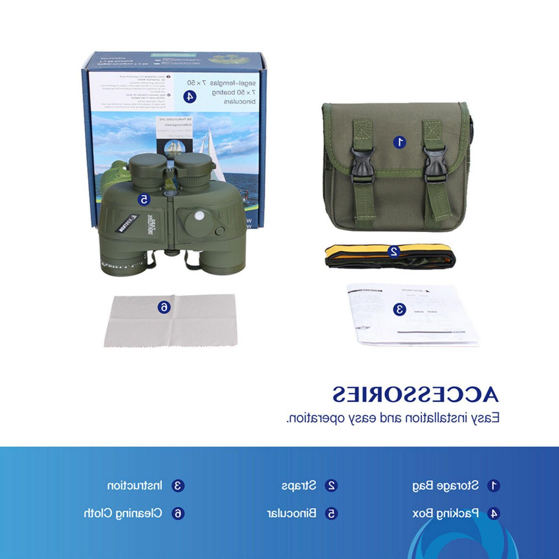 7x50 Military Marine Rangefinder & Compass