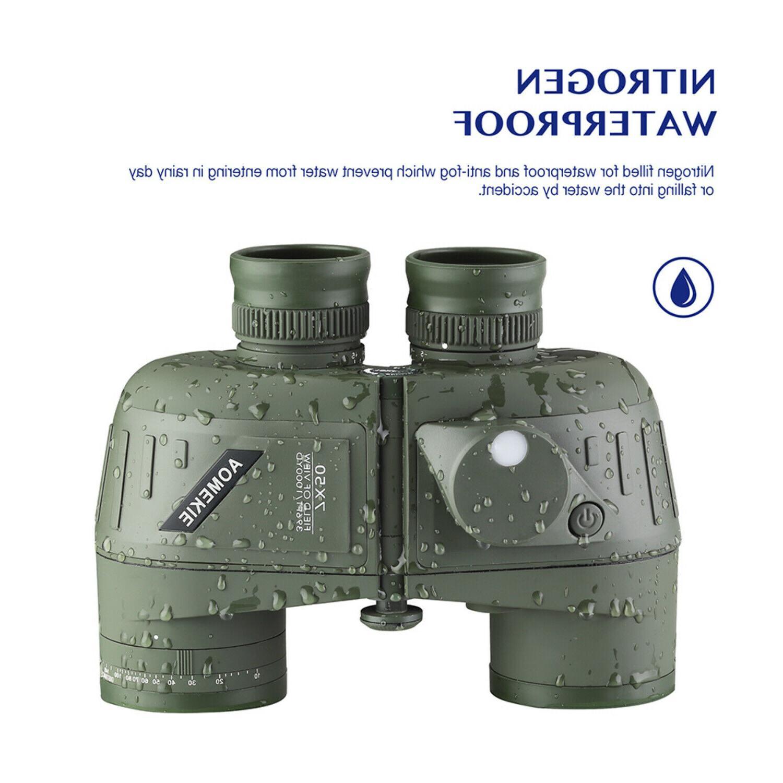 7x50 Military Marine Binoculars w/ Rangefinder &
